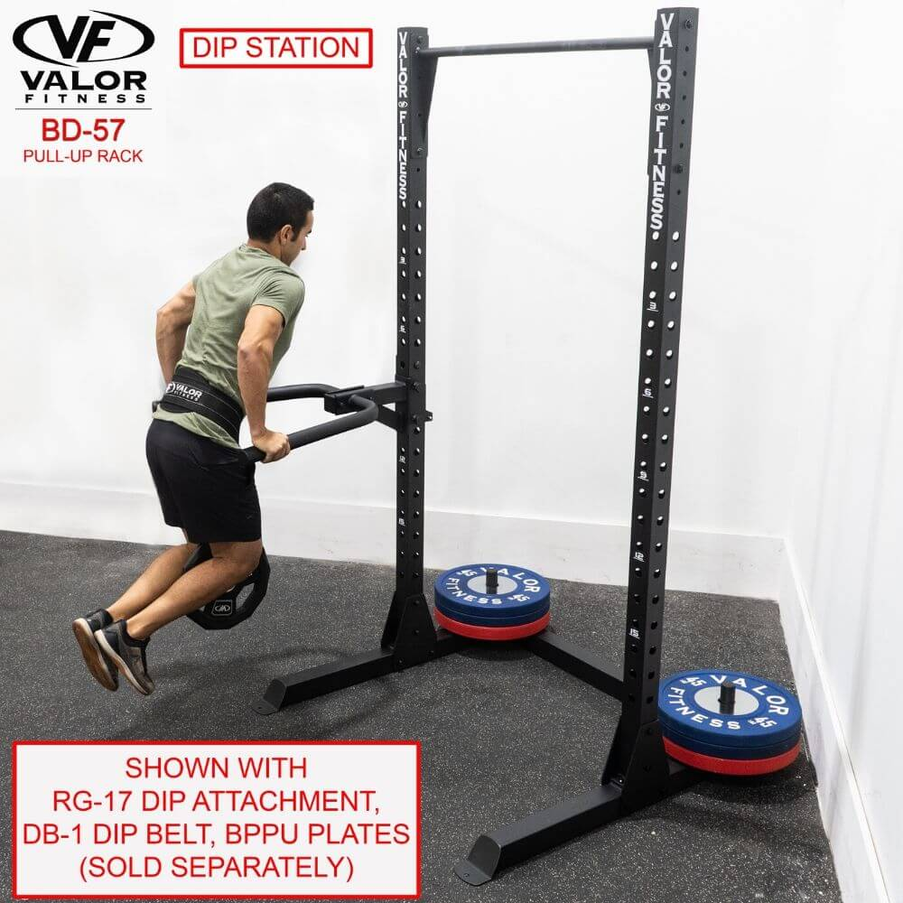Valor Fitness BD-57 Half Rack with Pull Up Bar With Dip Attachment
