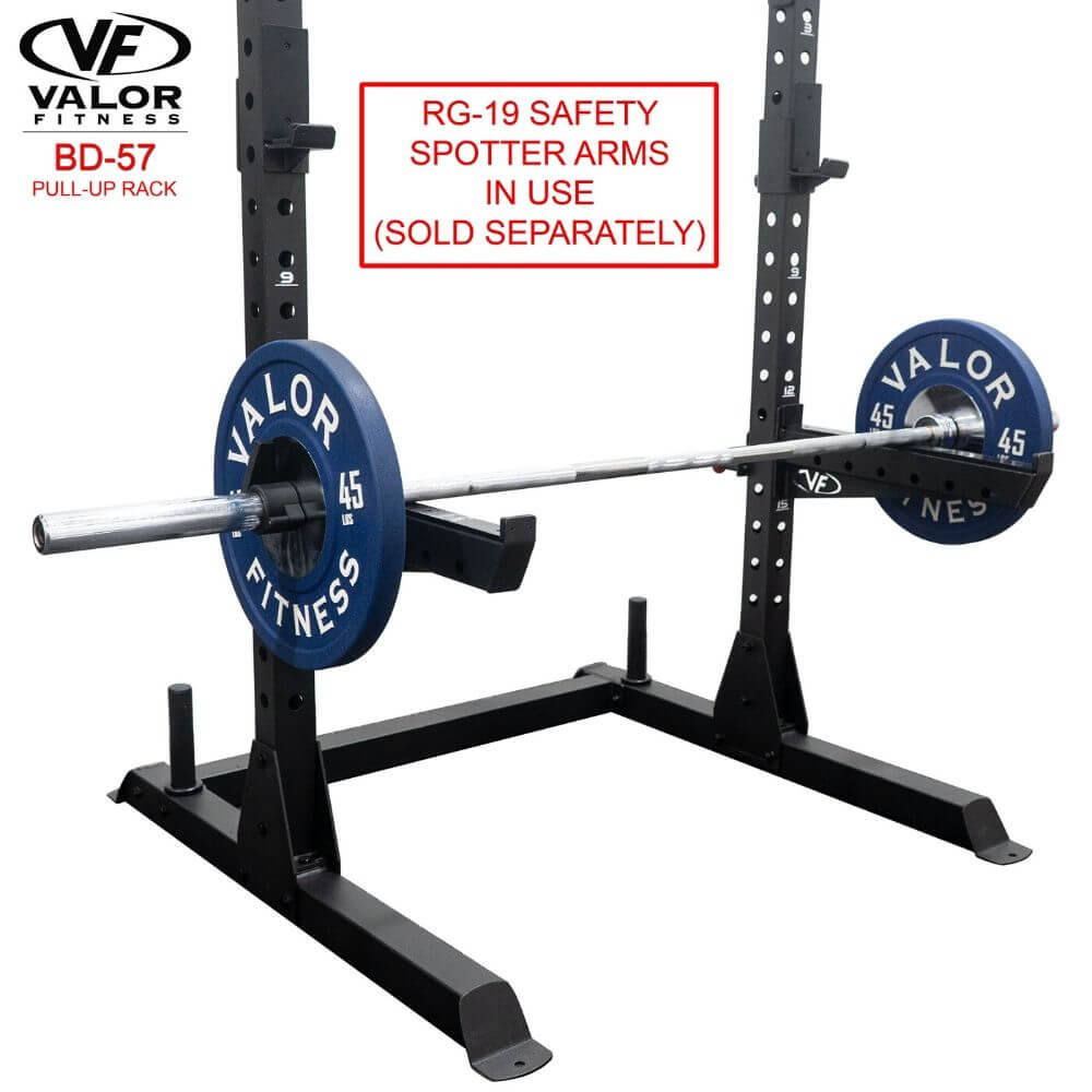 Valor Fitness BD-57 Half Rack with Pull Up Bar With Safety Spotter