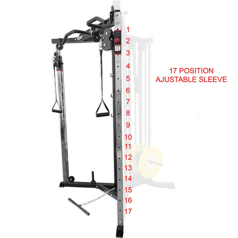 Valor Fitness BD-61 Cable Crossover Station Adjustable Sleeve