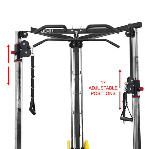 Valor Fitness BD-61 Cable Crossover Station Adjustable