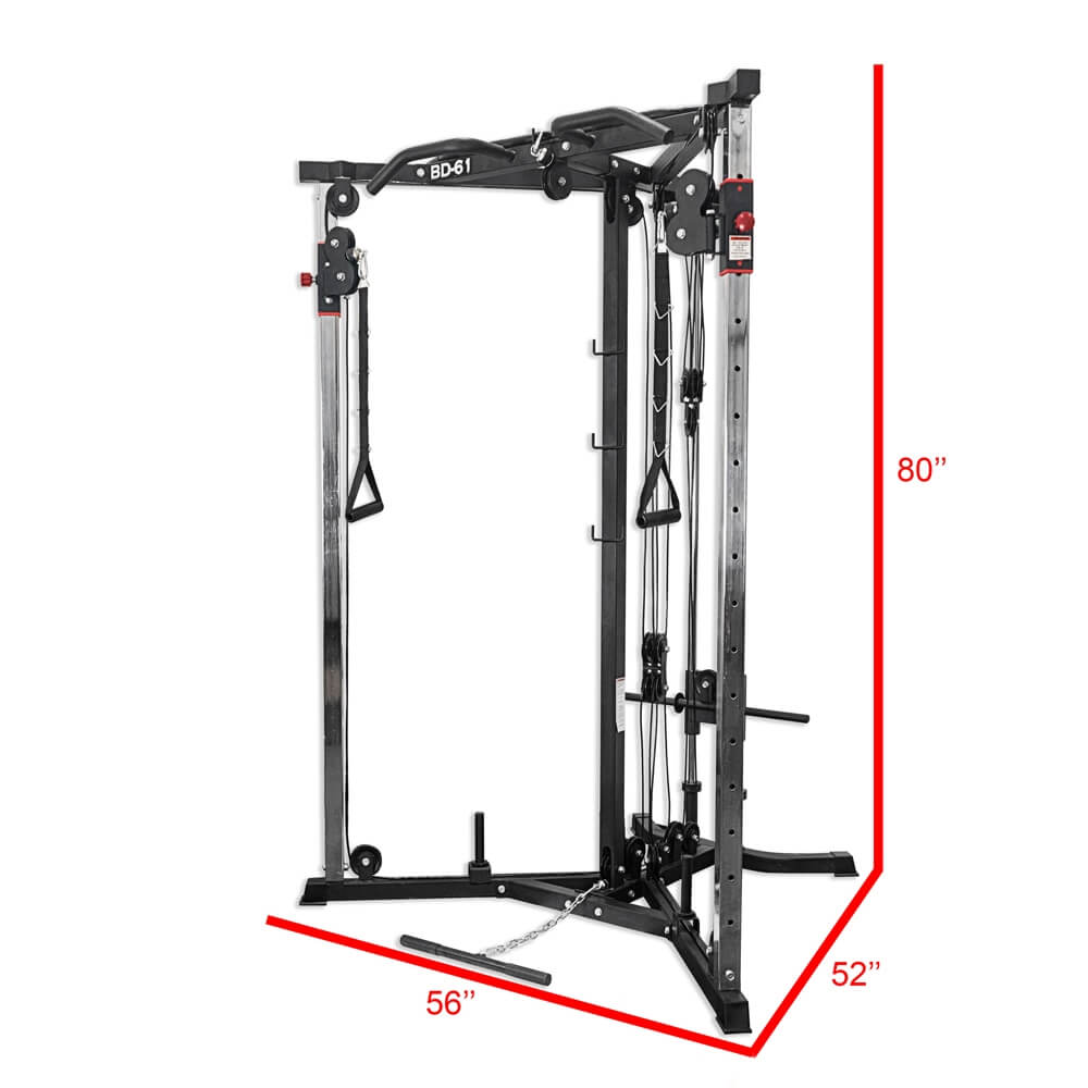 Valor Fitness BD-61 Cable Crossover Station Dimensions