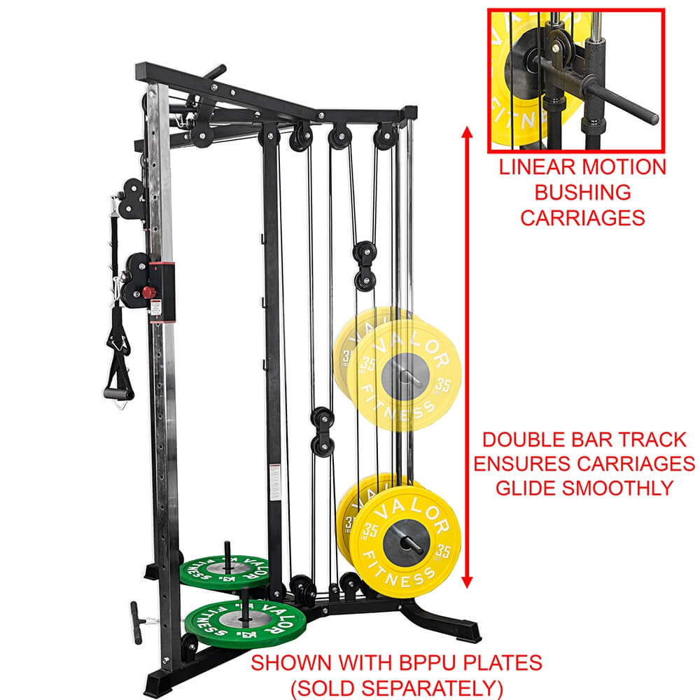 Valor Fitness BD-61 Cable Crossover Station Linear Motion