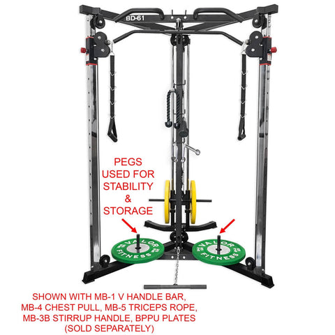 Valor Fitness BD-61 Cable Crossover Station Pegs