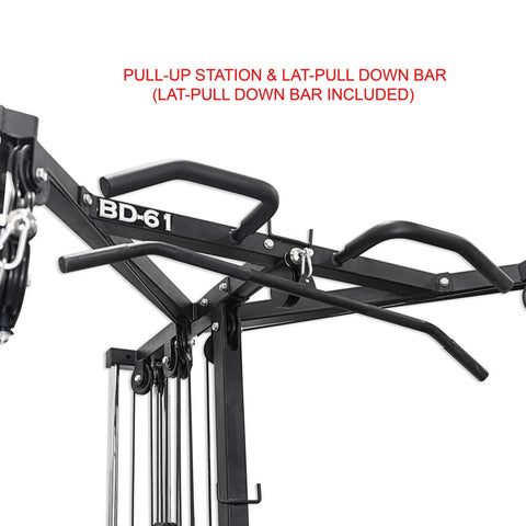 Valor Fitness BD-61 Cable Crossover Station Pull Up And Lat Pull Down Bar