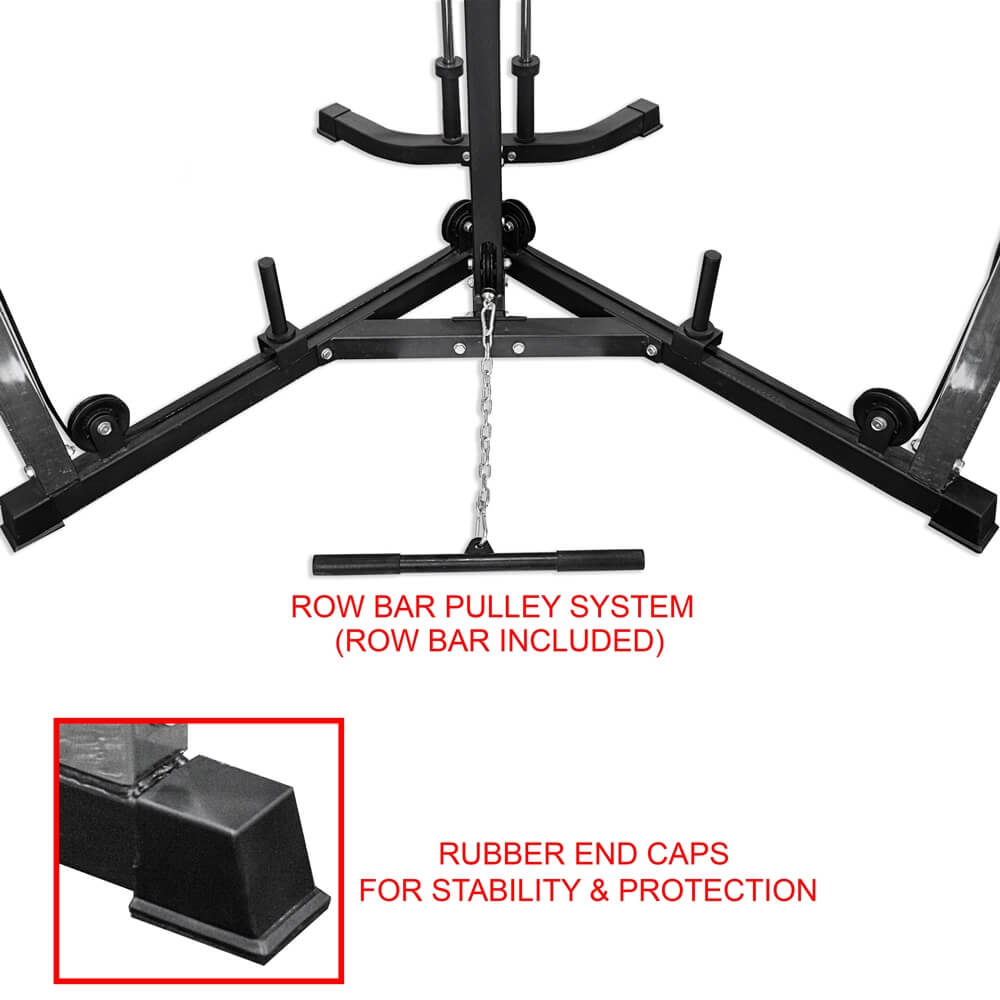 Valor Fitness BD-61 Cable Crossover Station Row Bar Pulley System