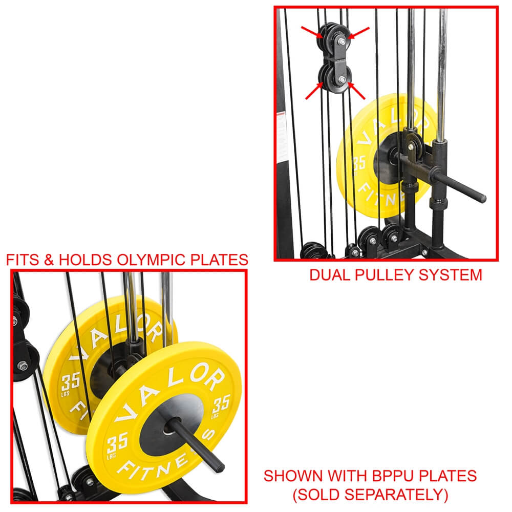 Valor Fitness BD-61 Cable Crossover Station With BPPU Plates