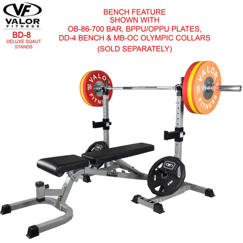 Valor Fitness BD-8 Improved Deluxe Squat Stands 3D View
