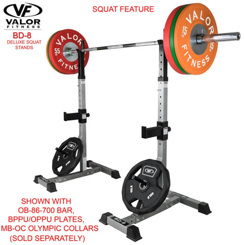 Valor Fitness BD-8 Improved Deluxe Squat Stands Features