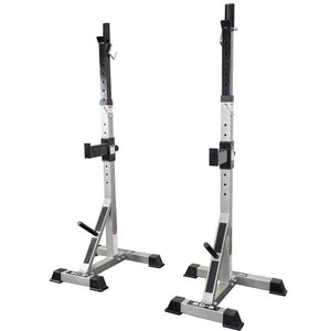Valor Fitness BD-8 Improved Deluxe Squat Stands Front Side View