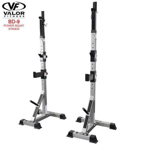 Valor Fitness BD-9 Power Squat Stands 3D View Front Side View