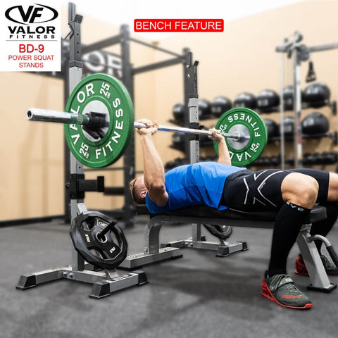 Valor Fitness BD-9 Power Squat Stands Bench Press