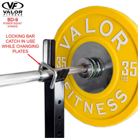 Valor Fitness BD-9 Power Squat Stands Locking Bar