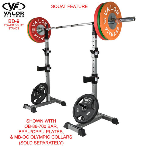 Valor Fitness BD-9 Power Squat Stands With 700 Bar