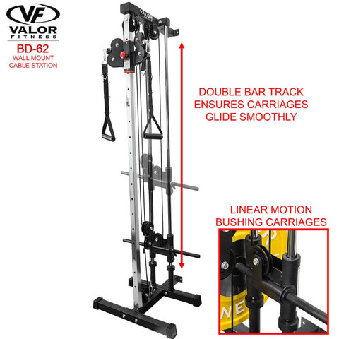 Valor Fitness BD62 Wall Mount Cable Station Bushing Carriages