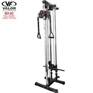 Valor Fitness BD62 Wall Mount Cable Station Front Side View