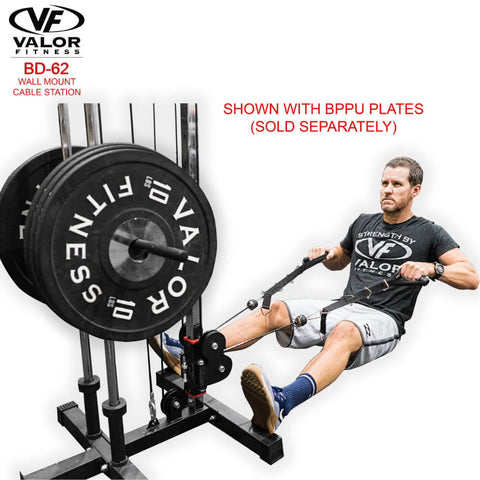 Valor Fitness BD62 Wall Mount Cable Station Sitting Pulling