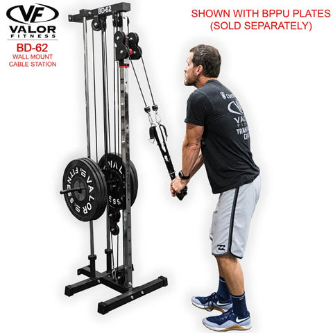 Valor Fitness BD62 Wall Mount Cable Station Standing Pulling