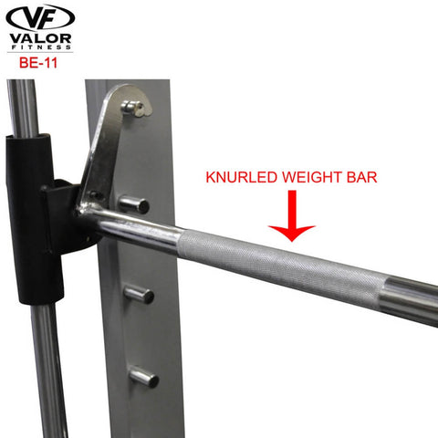 Valor Fitness BE-11 Smith Machine Knurled Weight bar