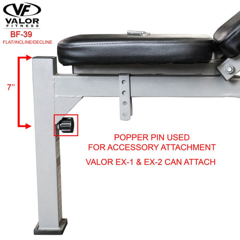 Image of Valor Fitness BF-39 FID Olympic Bench Popper Pin