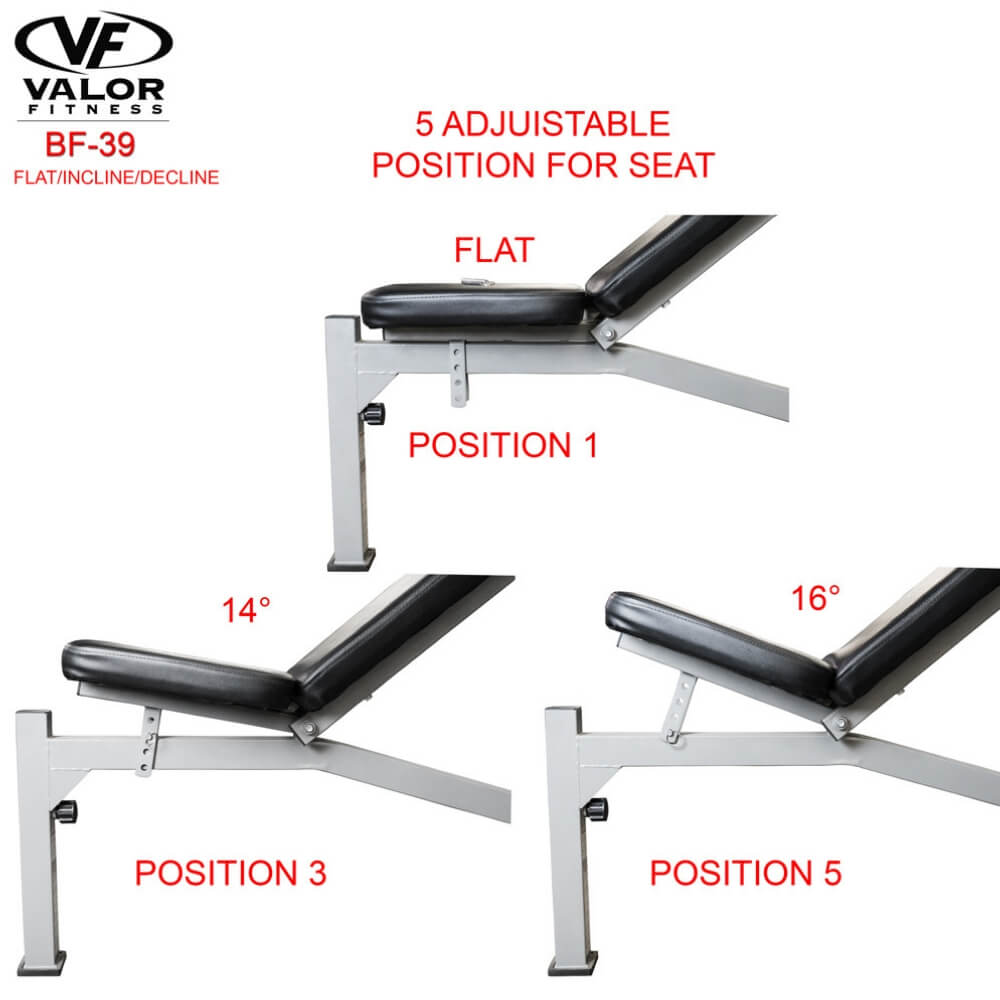Valor Fitness BF-39 FID Olympic Bench Position For Seat