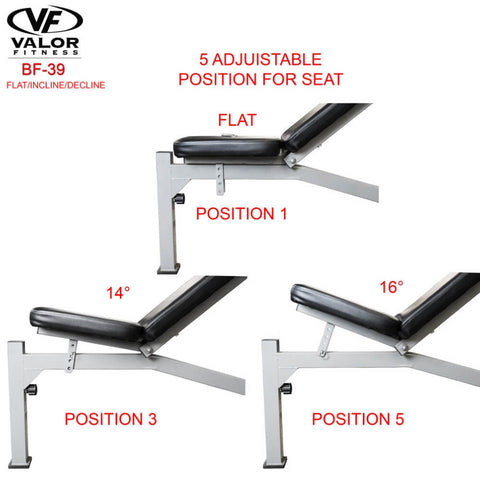 Image of Valor Fitness BF-39 FID Olympic Bench Position For Seat