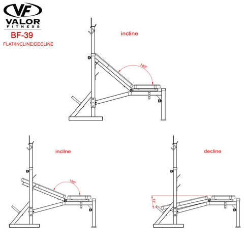 Image of Valor Fitness BF-39 FID Olympic Bench