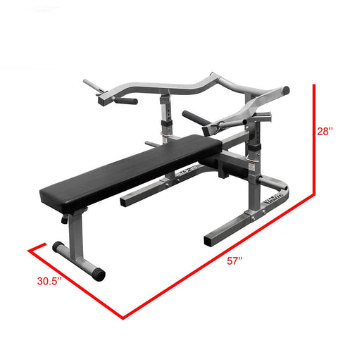Image of Valor Fitness BF-47 Independent Level Bench Dimension