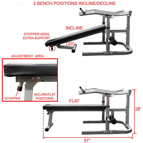 Valor Fitness BF-47 Independent Level Bench Incline And Decline