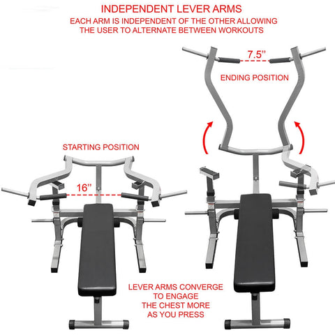 Valor Fitness BF-47 Independent Level Bench Lever Arms