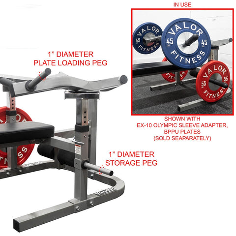 Image of Valor Fitness BF-47 Independent Level Bench Pegs