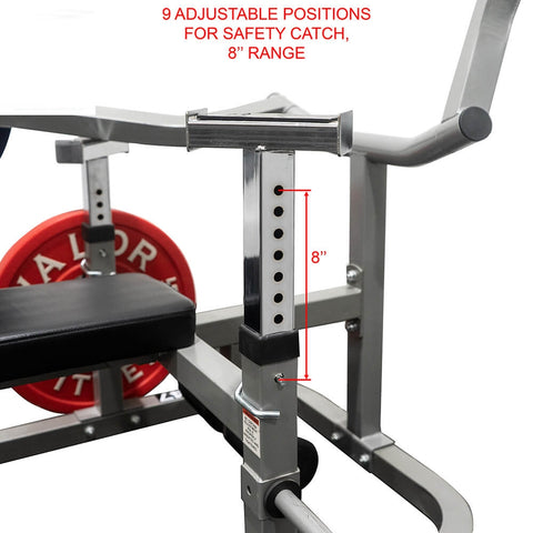 Valor Fitness BF-47 Independent Level Bench Safety Catch