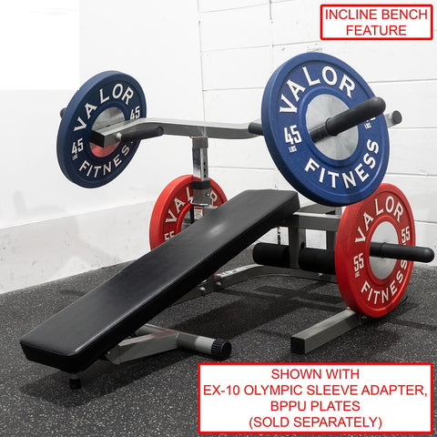 Image of Valor Fitness BF-47 Independent Level Bench With BPPU Plates