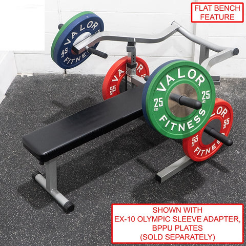 Image of Valor Fitness BF-47 Independent Level Bench With Sleeve Adapter