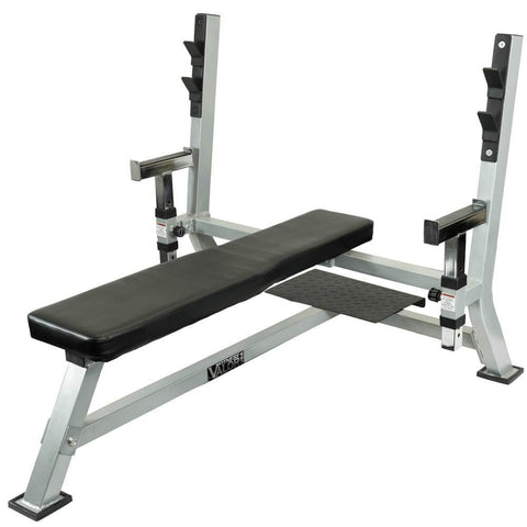 Valor Fitness BF-48 Olympic Bench Pro with spotter 3D View