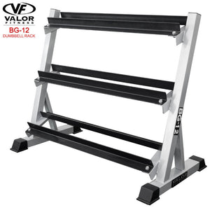 Valor Fitness BG-12 3 Tier (40) Dumbbell Rack 3D VIew