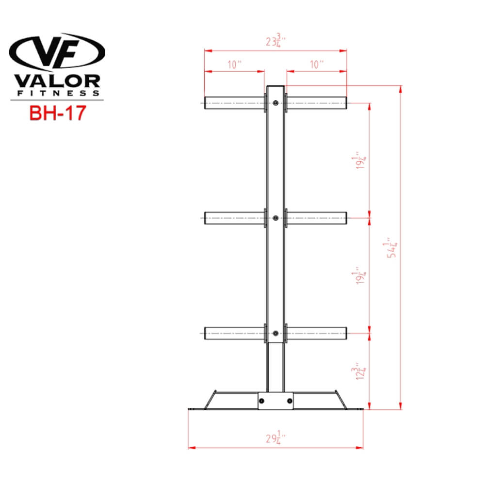 Valor Fitness BH-17 Bumper Plate Tree Dimensional Illustration