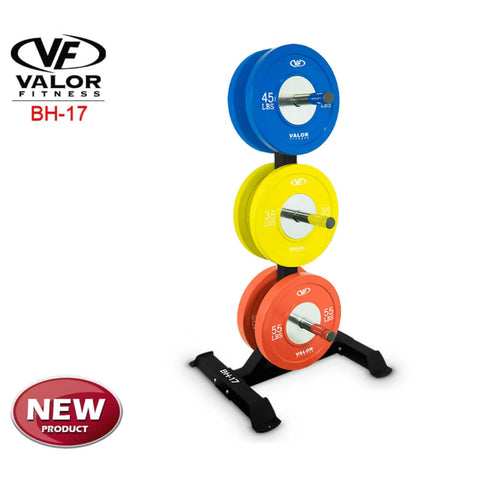 Image of Valor Fitness BH-17 Bumper Plate Tree With Plates