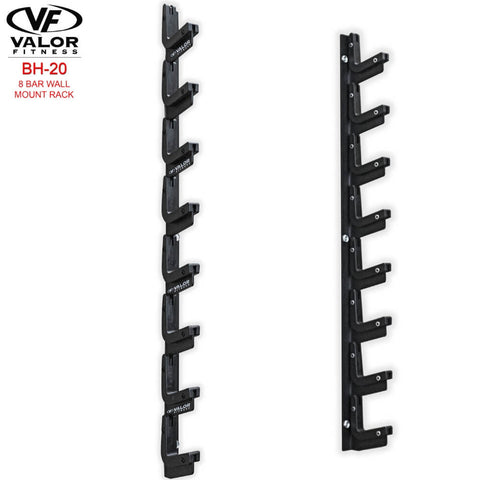 Image of Valor Fitness BH-20 8 Bar Wall Mount Rack 3D View