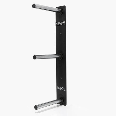 Image of Valor Fitness BH-25 3 Peg Wall Mounted Bumper Plate Storage 3D View
