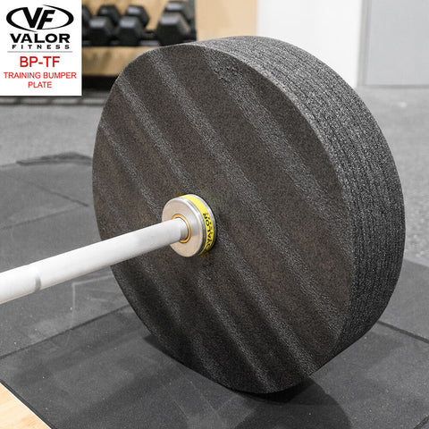 Valor Fitness BP-TF Training Bumper Plate Close Up View