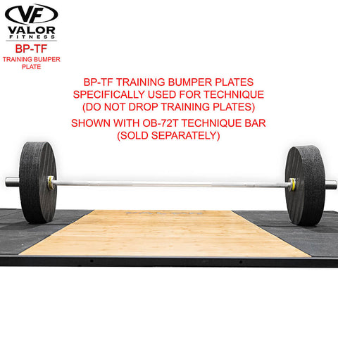 Valor Fitness BP-TF Training Bumper Plate With Technique Bar