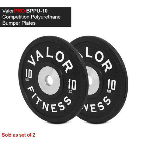 Image of Valor Fitness BPPU Polyurethane Bumper Plate 10 Lbs 3D View