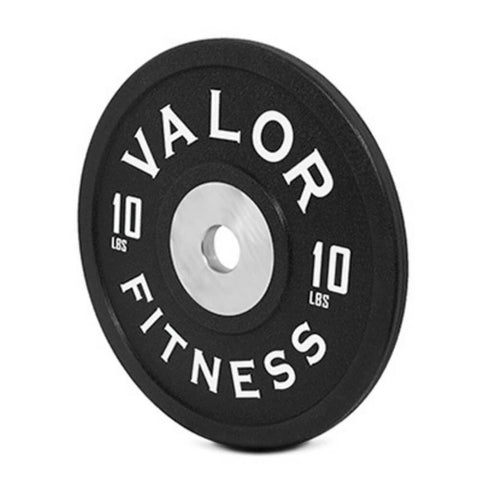 Valor Fitness BPPU Polyurethane Bumper Plate 10 Lbs Close Up