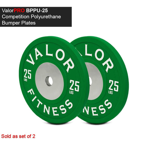 Image of Valor Fitness BPPU Polyurethane Bumper Plate 25 Lbs 3D View