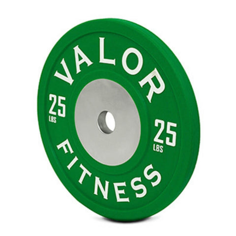 Valor Fitness BPPU Polyurethane Bumper Plate 25 Lbs Close Up