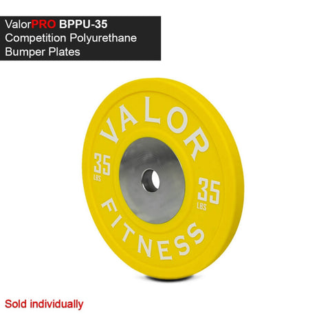 Image of Valor Fitness BPPU Polyurethane Bumper Plate 35 Lbs 3D View