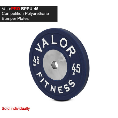 Image of Valor Fitness BPPU Polyurethane Bumper Plate 45 Lbs 3D View