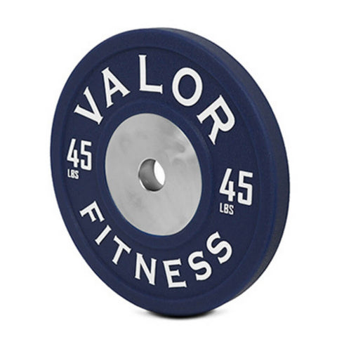 Valor Fitness BPPU Polyurethane Bumper Plate 45 Lbs Close Up