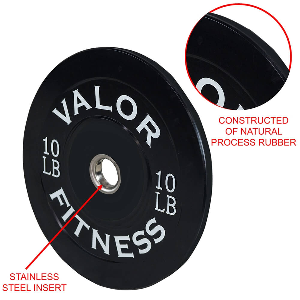 Valor Fitness Bumper Plates BP Steel Insert