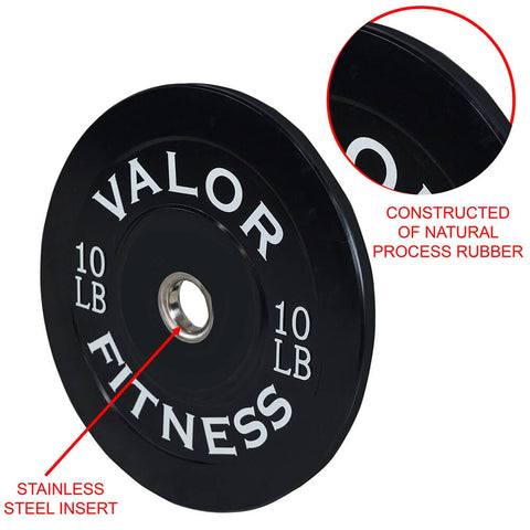 Image of Valor Fitness Bumper Plates BP Steel Insert